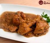 Receta de pollo en pepitoria