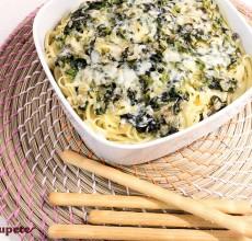 Tallarines con espinacas. Tagliatelle con spinaci