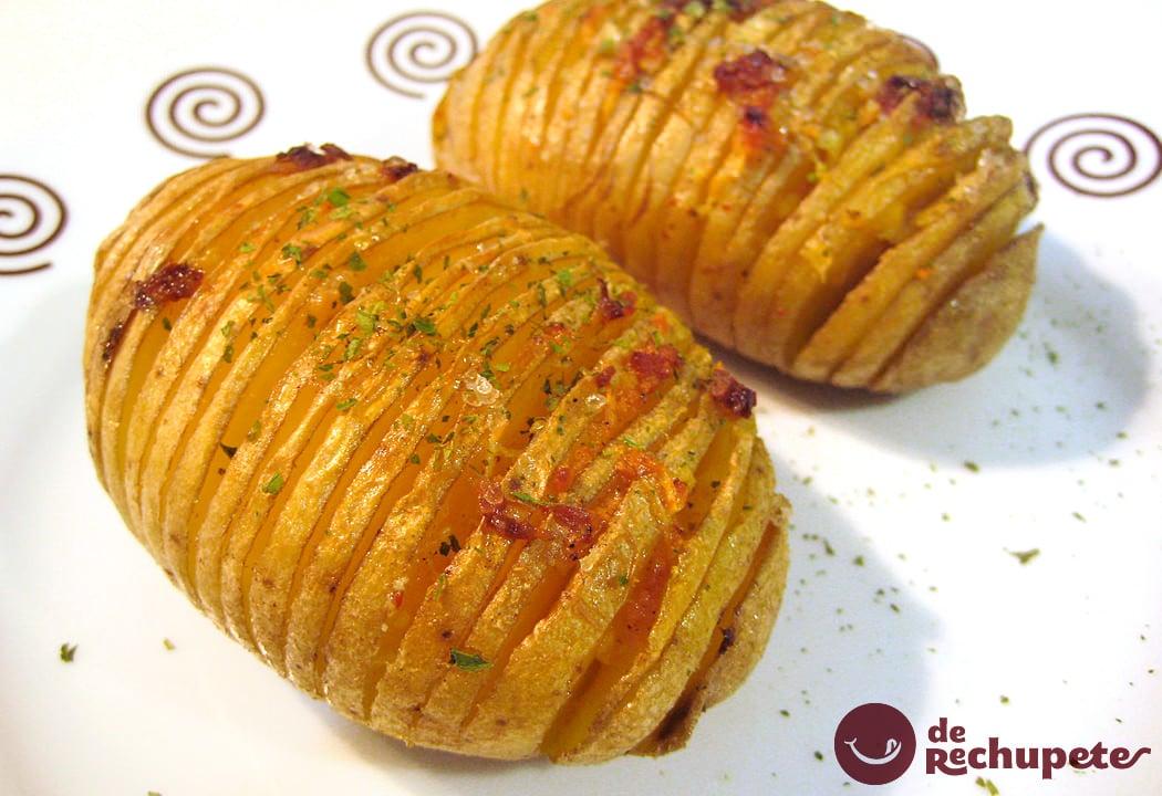Patatas al horno al estilo hasselback - Patatas pequenas al horno ...