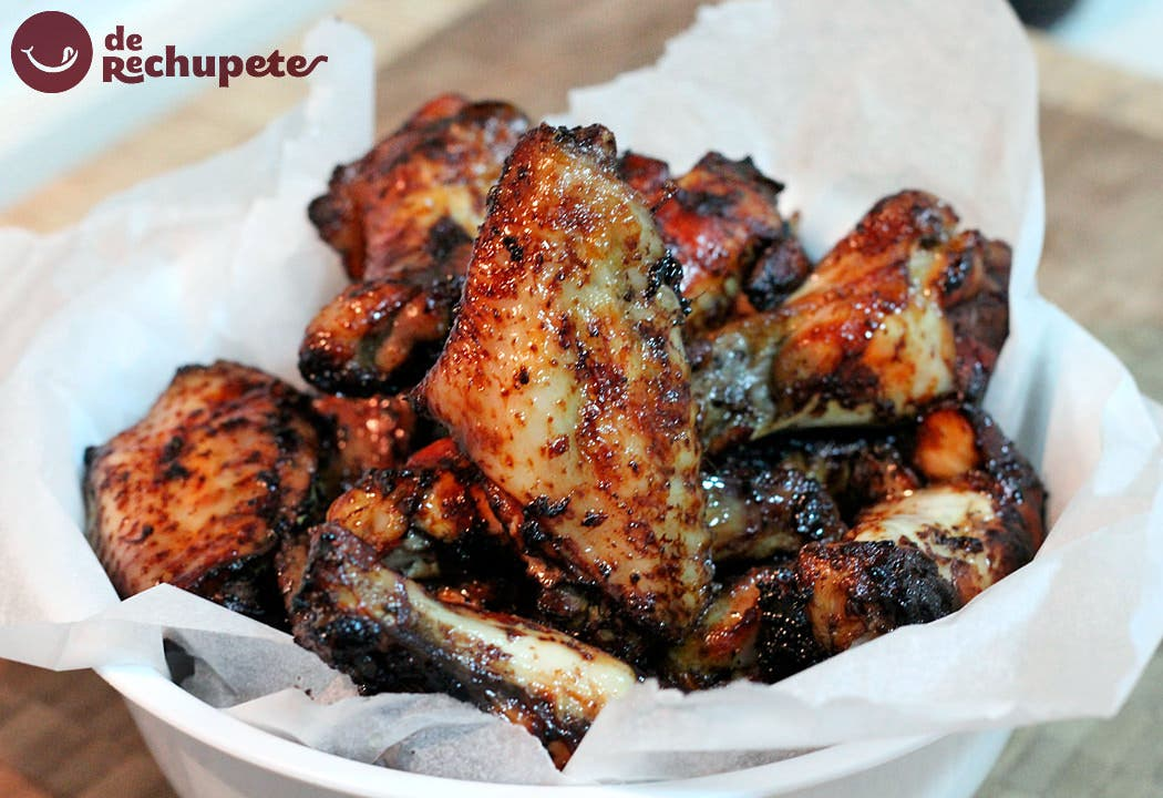 Alitas de pollo al horno con salsa de soja miel y lim n - Salsas para el pollo al horno ...