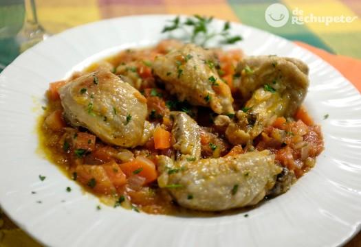 Pollo a la cazadora (pollo alla cacciatora). receta italiana en Pollo tandoori
