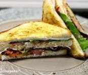 Receta de sandwich club de pollo
