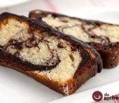 bizcocho marmol con chocolate