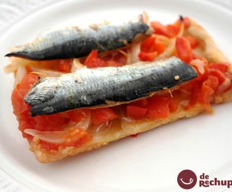 Coca de sardinas. Receta de San Juan