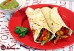 Receta de fajitas de pollo y verduras