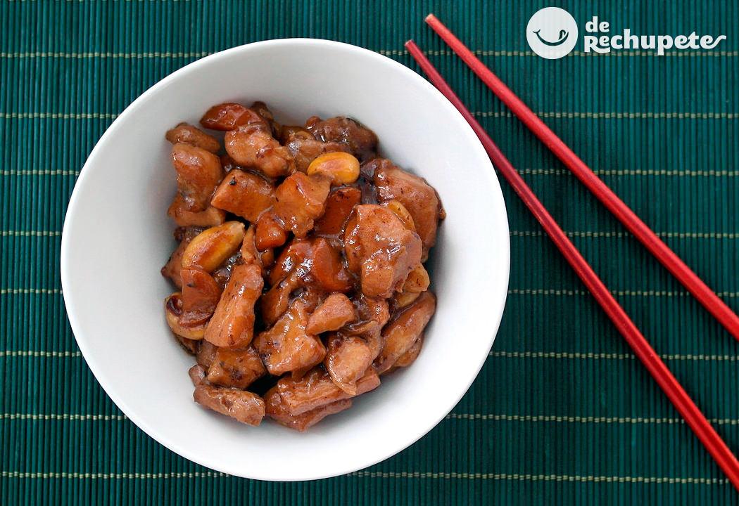 Pollo con almendras al estilo chino - Pollo con almendras facil ...