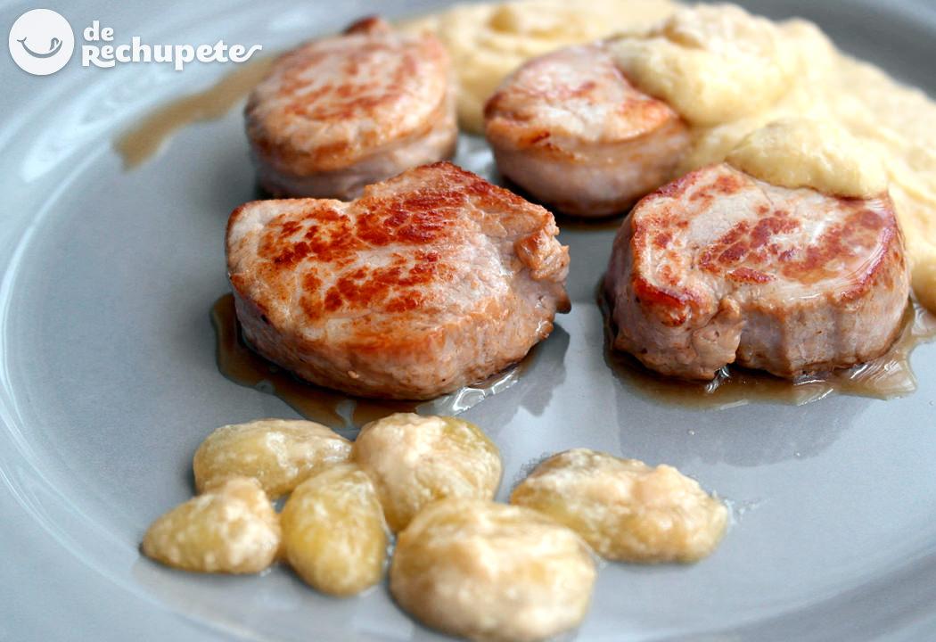 Solomillo de cerdo con salsa de uvas