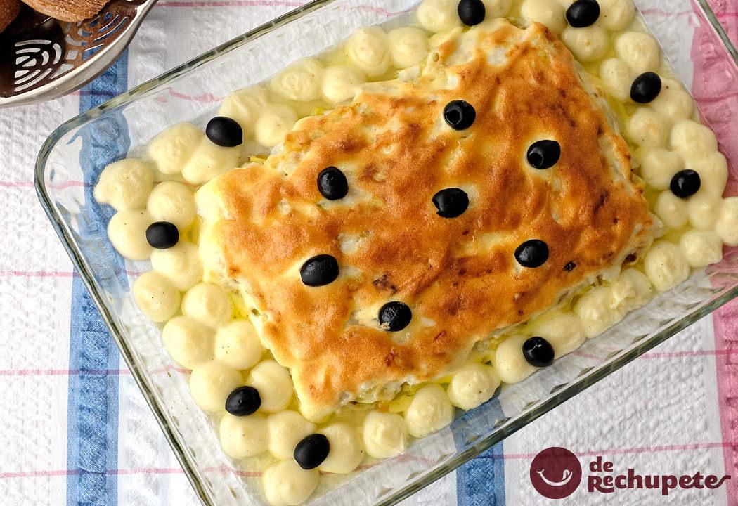 Bacalao gratinado con mayonesa bacalhau z do pipo for Como cocinar bacalao al horno