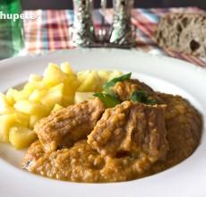 Receta de carne guisada con verduras y miel