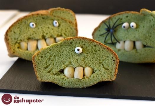 Halloween bizcocho Frankenstein