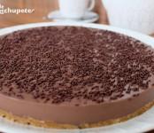 Receta de tarta de cuajada y chocolate
