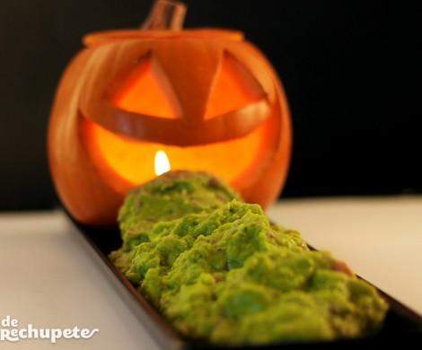 Calabaza con guacamole. Receta Halloween