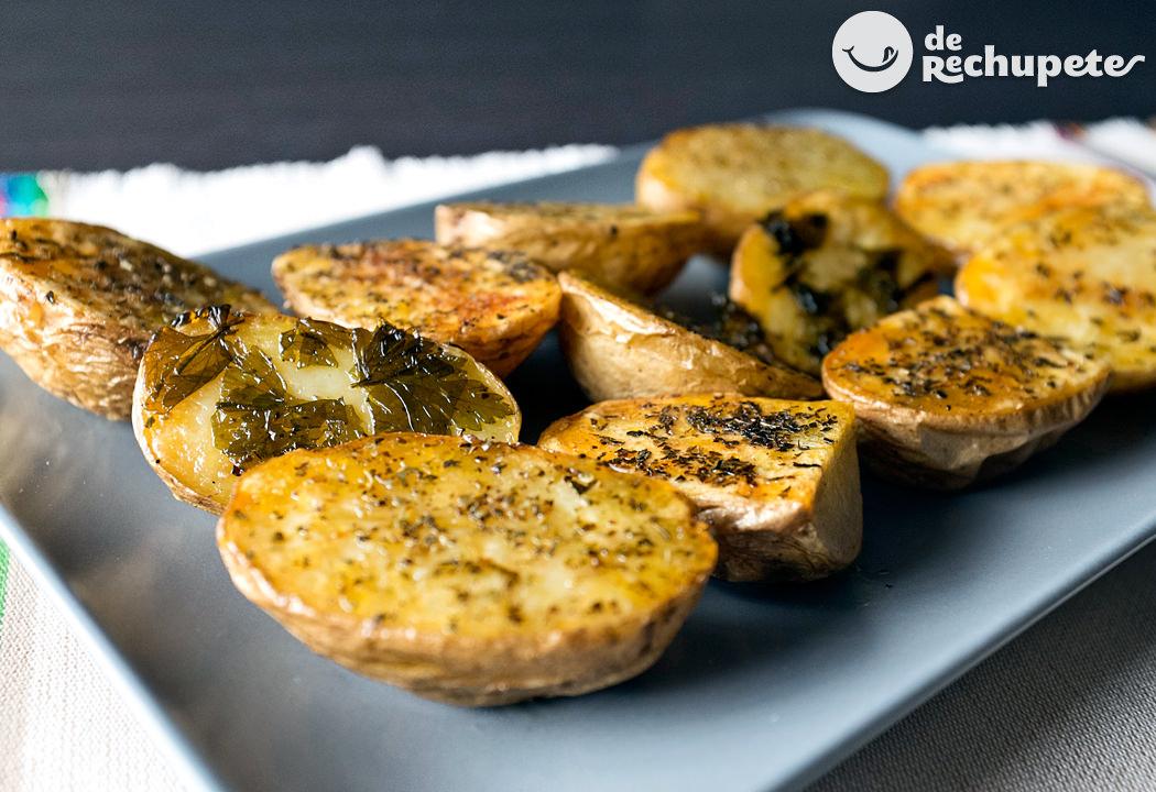 Patatas asadas o al horno con especias - Patatas pequenas al horno ...