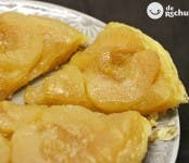 Receta de tarta casera de manzana tatín
