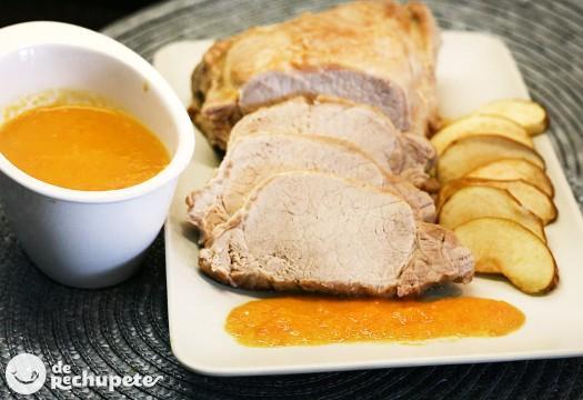 Como Cocinar Lomo Al Horno | De Cerdo Al Horno Con Manzana