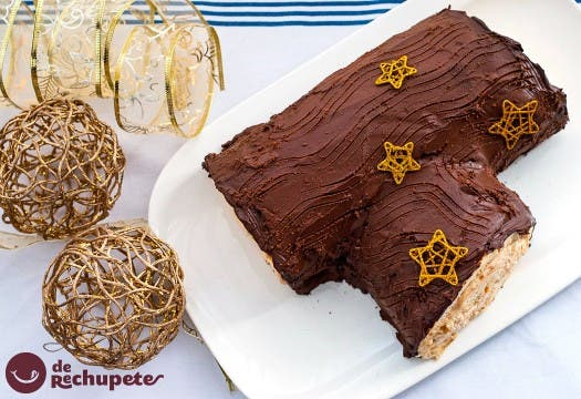 receta tronco navidad chocolate