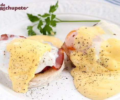 Huevos Benedict o Benedictinos caseros. Receta fácil y rápida