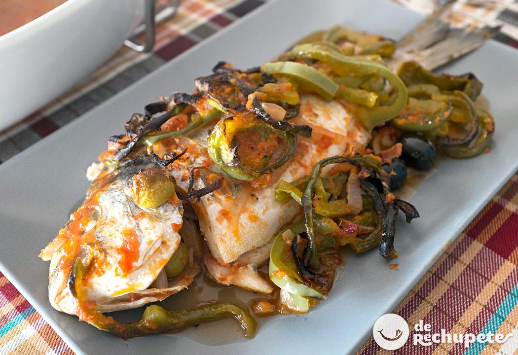 Dorada al horno con aceitunas - Como cocinar pescado al horno ...