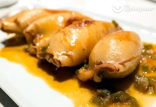 Calamares rellenos de mejillones