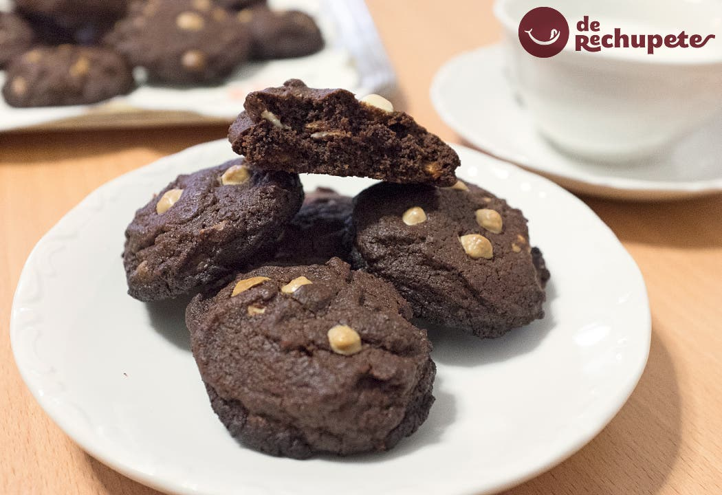 Galletas con pepitas de chocolate blanco
