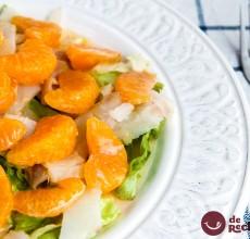 ensalada de bacalao y mandarina
