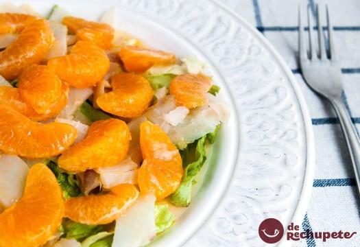 Ensalada de bacalao y mandarinas