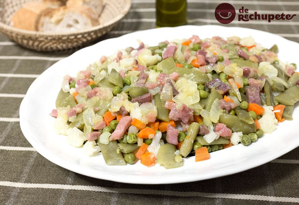 Menestra de verduras con jam n - Arroz con alcachofas y jamon ...