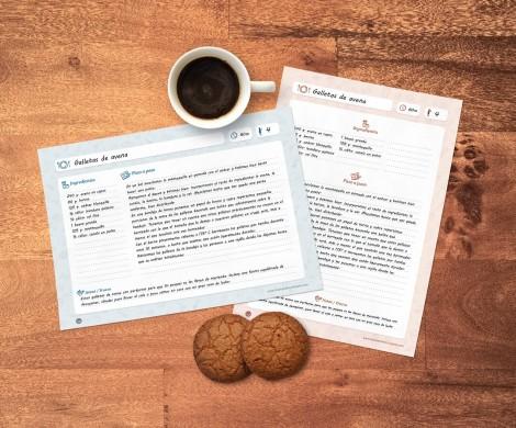 Plantillas gratis para escribir e imprimir recetas