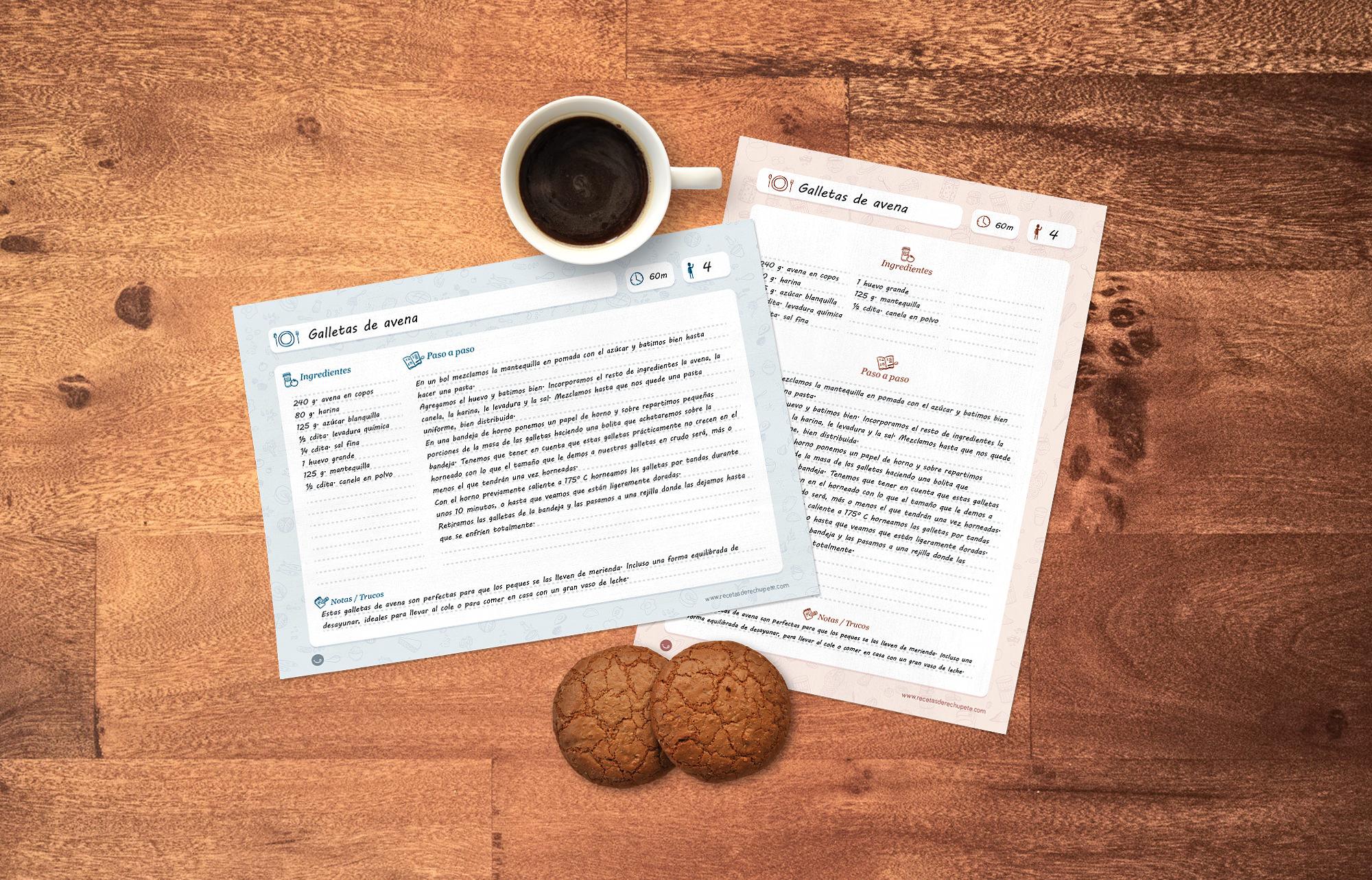 Plantillas gratis para escribir e imprimir recetas for Plantillas de cocina