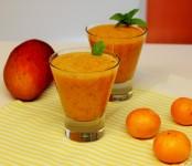 Smoothie de naranja y mango