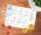 Plantilla de menú semanal imprimible