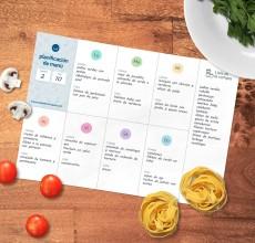 Plantilla de menú semanal para imprimir