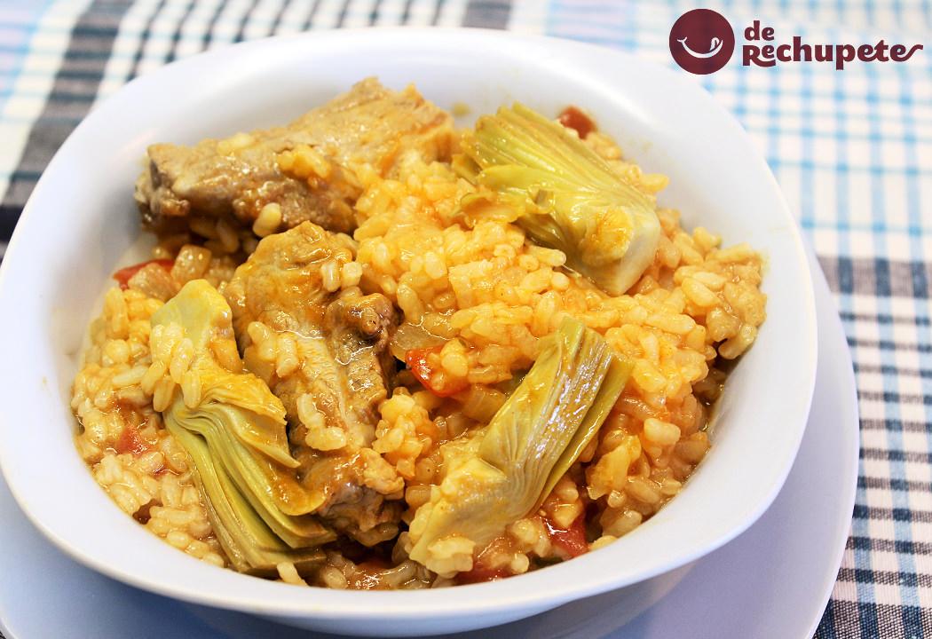 Arroz Con Alcachofas Y Costilla De Cerdo Recetas De Rechupete Recetas De Cocina Caseras Y Fáciles