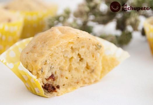 Muffins salados con tomate seco