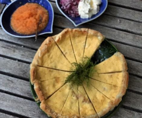 Pastel sueco de queso. Västerbottenostpaj