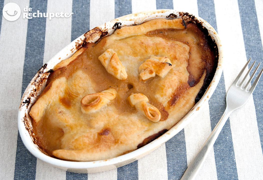 Pastel casero de pollo. Chicken Pie fácil paso a paso