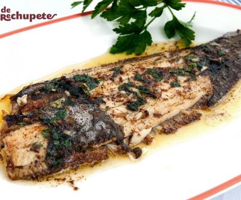 Lenguado a la meunière o Menier. Receta de pescado fina y delicada