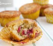 muffins de frambuesas y yogur
