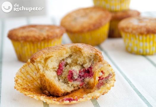 Muffins de frambuesa y yogur