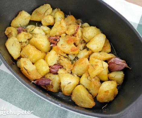 Patatas asadas al estilo Jamie Oliver