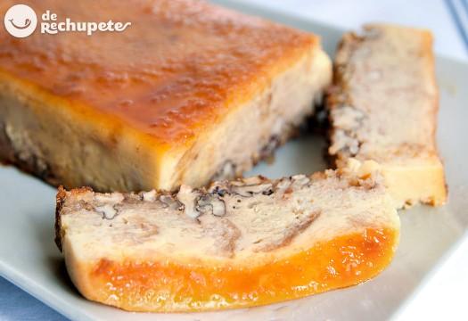 Pudin de pan y nueces