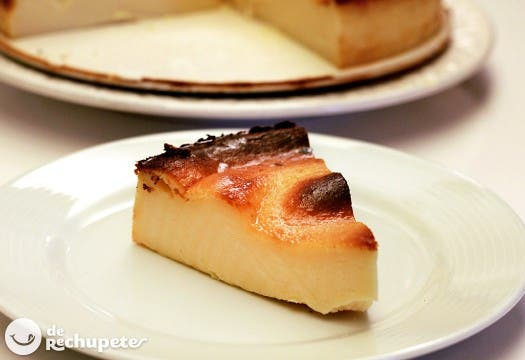 La tarta de queso más fácil del mundo en Merluza a la riojana mas ligera