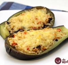 Berenjenas rellenas de quinoa y verduras