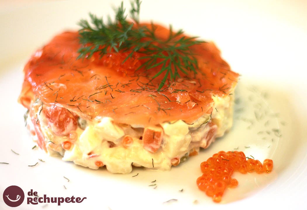 Ensaladilla de salm n ahumado - Tapas con salmon ahumado ...