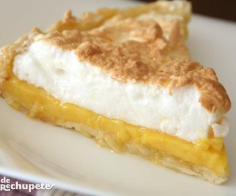 Tarta de naranja y merengue. Postre fácil y delicioso