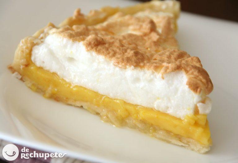 Tarta de naranja y merengue