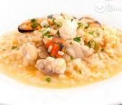 arroz caldoso con mejillones