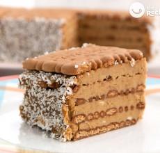 tarta de galletas y café