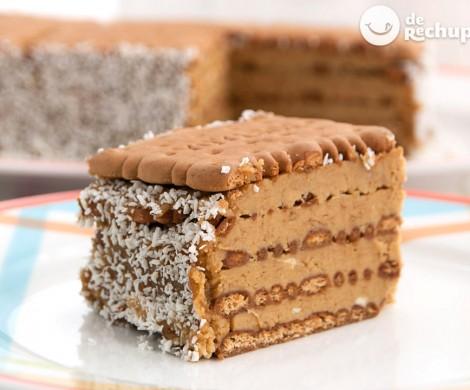 Tarta de galletas con crema de café