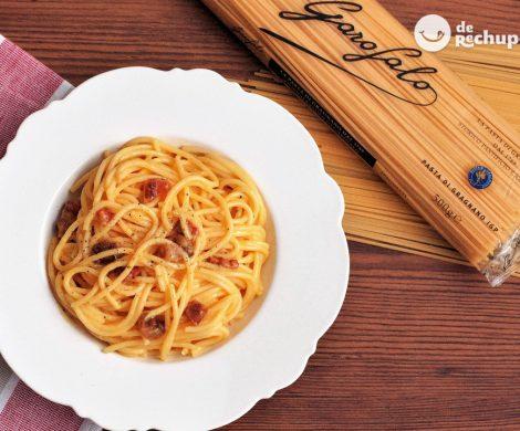 Cómo hacer unos espaguetis carbonara (Spaghetti alla carbonara)